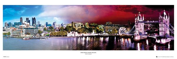 London - day & night Poster, Art Print