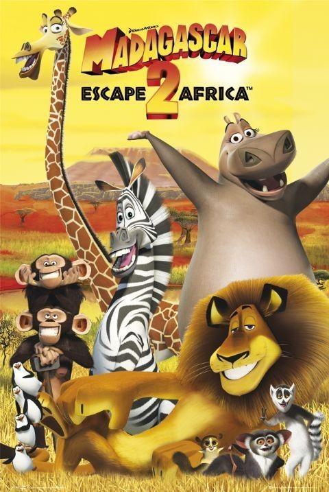 MADAGASCAR 2 - cast Poster, Art Print