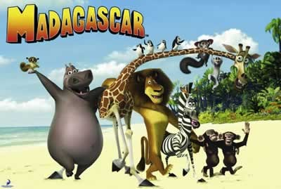 MADAGASCAR - on the beach Poster, Art Print
