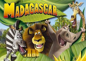 MADAGASKAR - cast Poster, Art Print