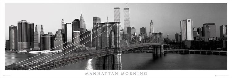 Manhattan - morning Poster, Art Print