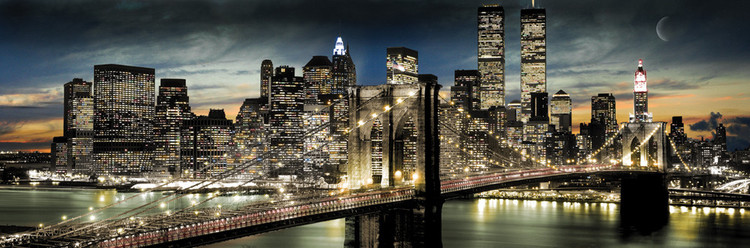 MANHATTAN - night and moon posters | art prints