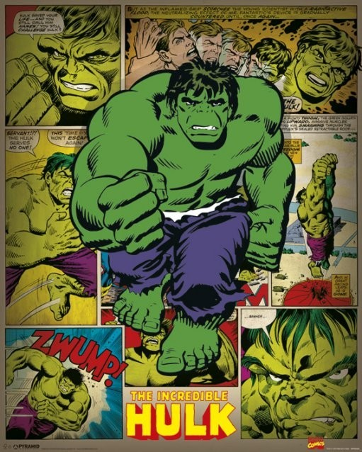 MARVEL COMICS – incredible hulk retro Poster | Sold at EuroPosters