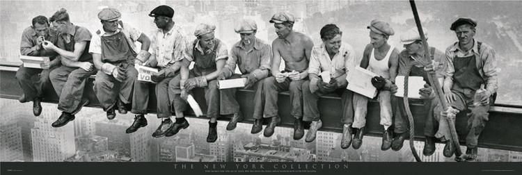 Men on girder Poster, Art Print