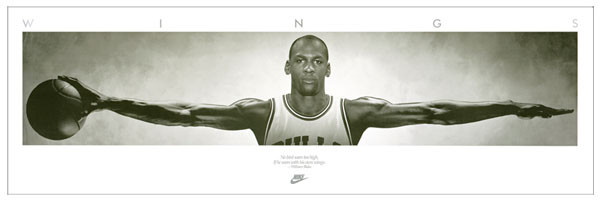 Michael Jordan - Wings, basketball Poster, Art Print