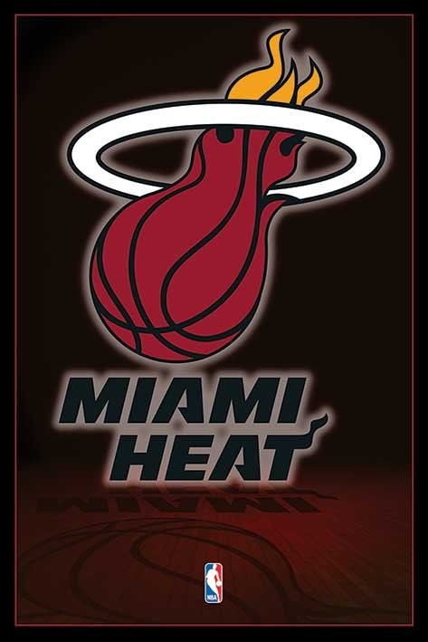 Nba Miami Heat Logo Poster Sold At Europosters