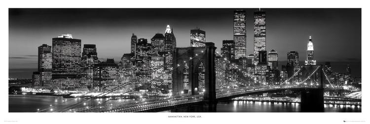 New York - Manhattan black Poster, Art Print