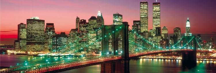 New York - Manhattan colour Poster, Art Print
