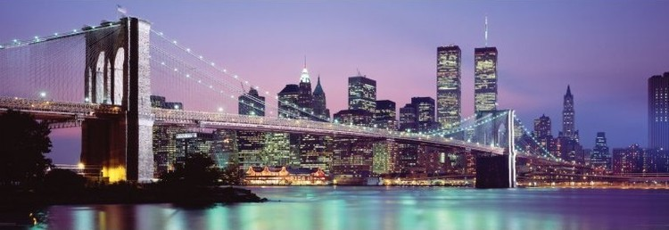 New York - skyline Poster, Art Print