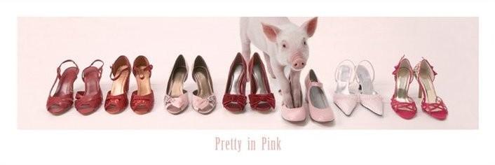 Pig - pretty in pink piglet Poster, Art Print