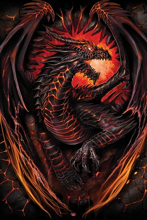 Spiral Dragon Furnace Poster Sold At Europosters