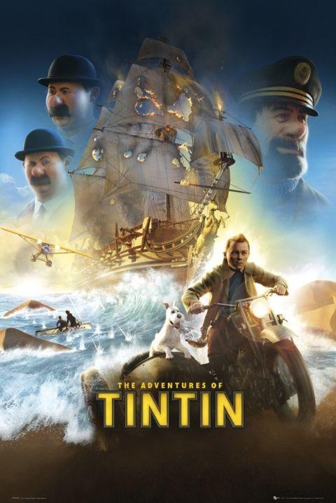 TINTIN - one sheet Poster, Art Print