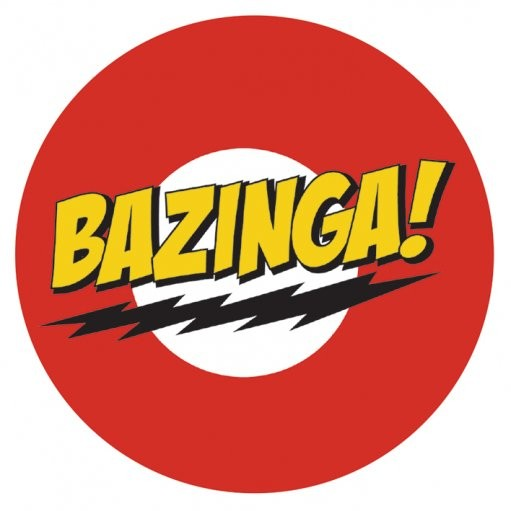 Big Bang Theory Bazinga Sticker