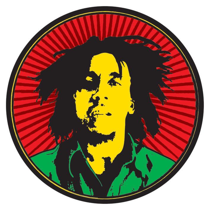 Bob Marley Rastafari Sticker Sold At Europosters