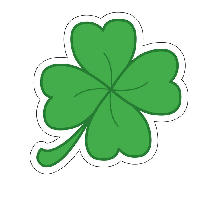 Four Leaf Clover Sticker Sold At Europosters
