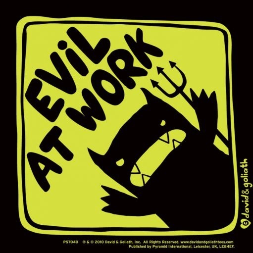 Monster Mash Evil At Work Sticker Sold At Europosters