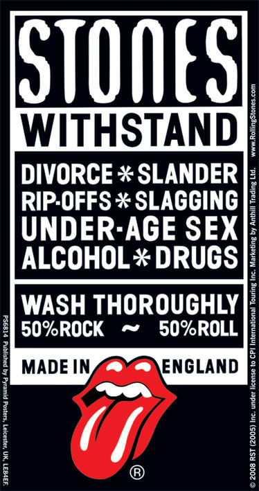 Rolling Stones Withstand Sticker