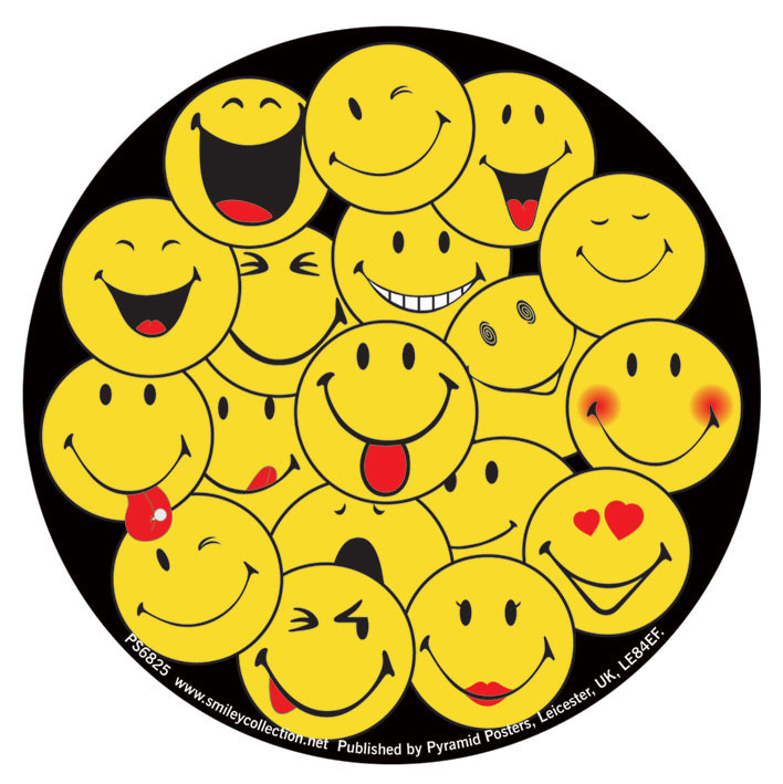 Smiley Faces Sticker Sold At Europosters