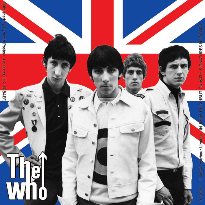 The Who Union Jack Band Sticker Sold At Europosters