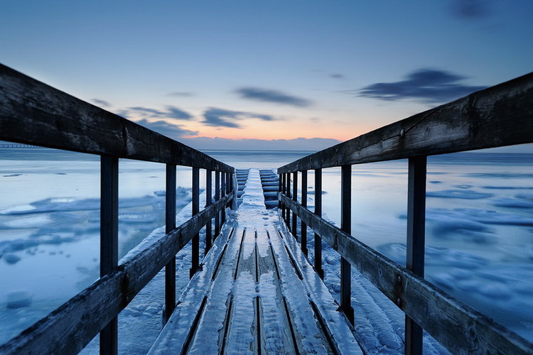 Obraz Blue Wooden Jetty