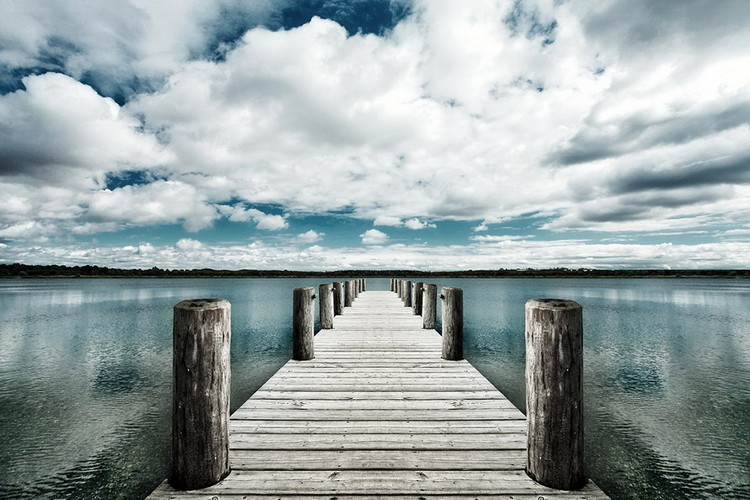 Obraz Landing Jetty with Sea of Clouds