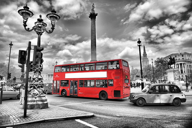 Obraz London - Red Bus in the Street