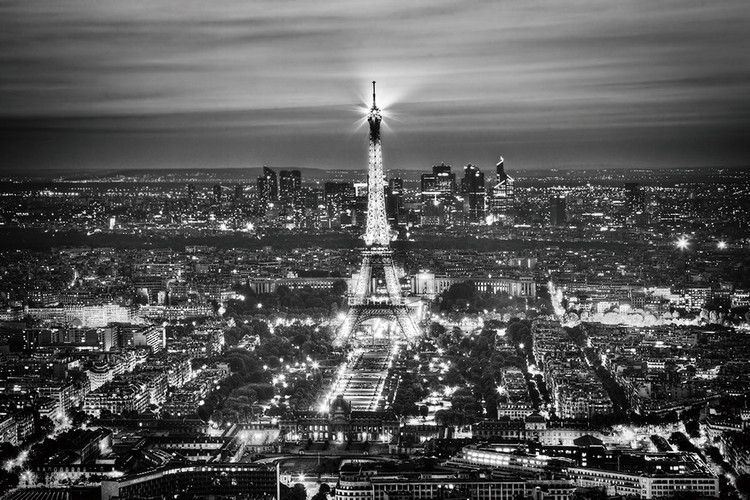 Obraz Paris - Eiffel Tower b&w