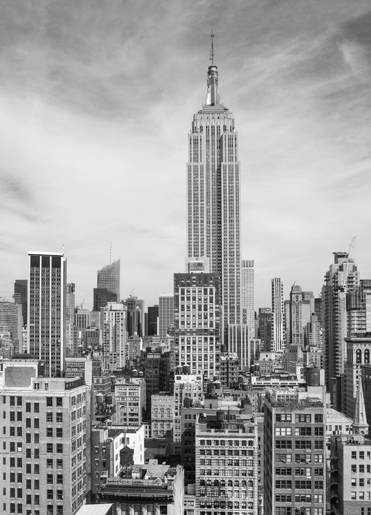 New york the empire state building wall mural buy at for Building wall mural