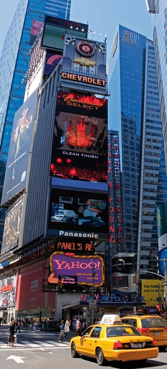 New york times square wall mural buy at europosters - Poster mural new york ...