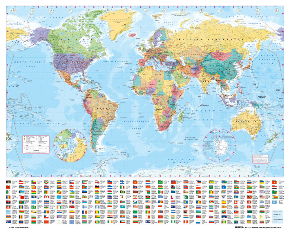 World map poster sold at europosters world map poster facebook google pinterest price gumiabroncs Choice Image