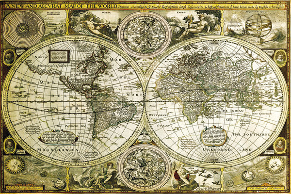 World map historical poster sold at europosters world map historical poster facebook google pinterest price gumiabroncs Choice Image