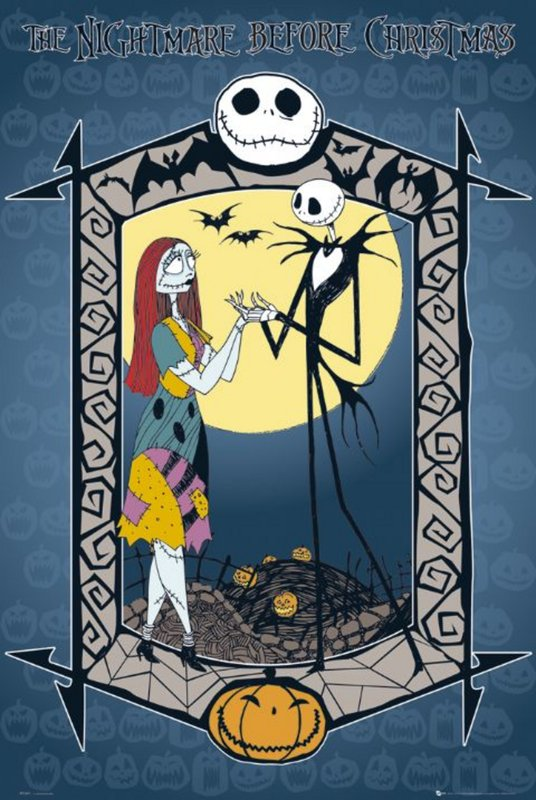 NIGHTMARE BEFORE CHRISTMAS - jack and sally Poster | Sold at ...