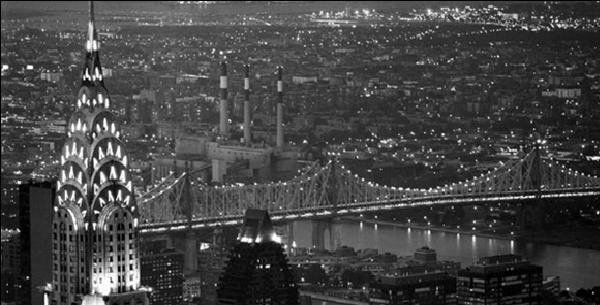 chrysler building black and white. new york the chrysler building and queensboro bridge art print by murat taner black white