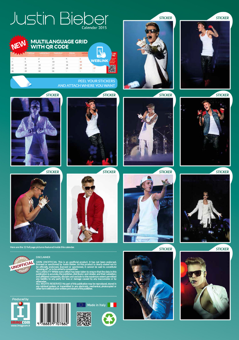 Justin Bieber - Calendars 2018 on Abposters.com