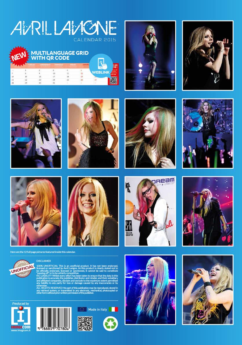 Avril Lavigne Calendars 2018 On Europosters
