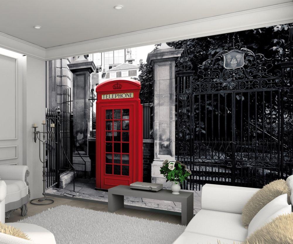 London la cabine t l phonique rouge poster mural papier peint acheter le - Acheter cabine telephonique ...
