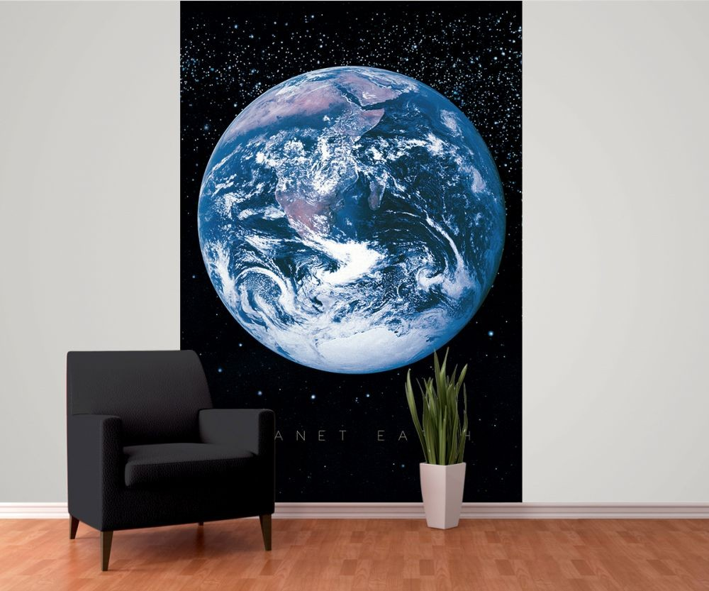 Planet earth space wall mural buy at europosters for Earth rising wall mural