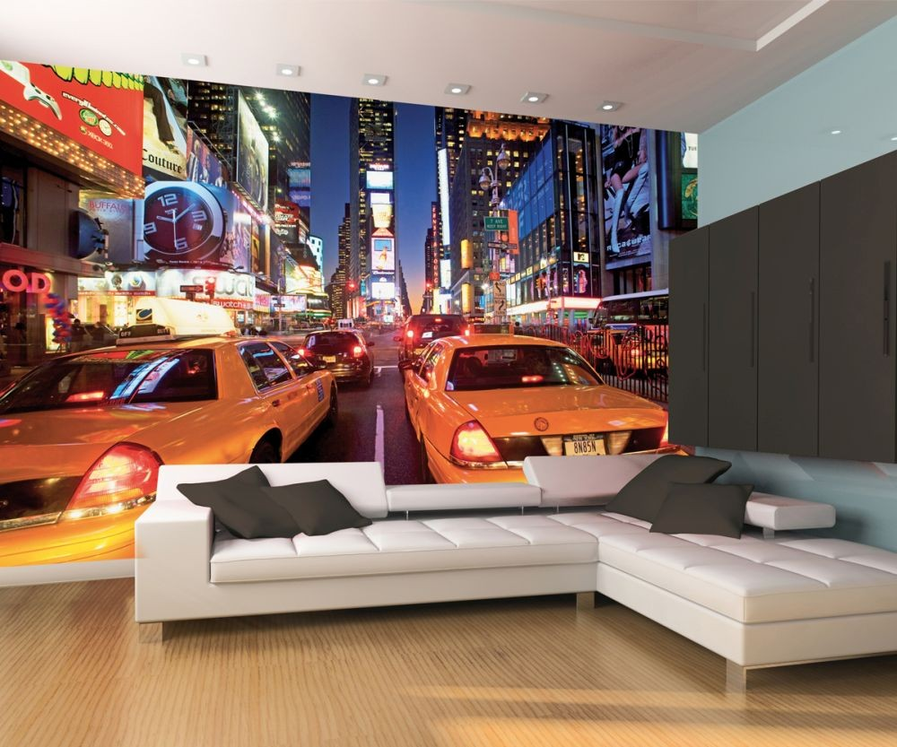 new york taxi wall mural buy at europosters. Black Bedroom Furniture Sets. Home Design Ideas