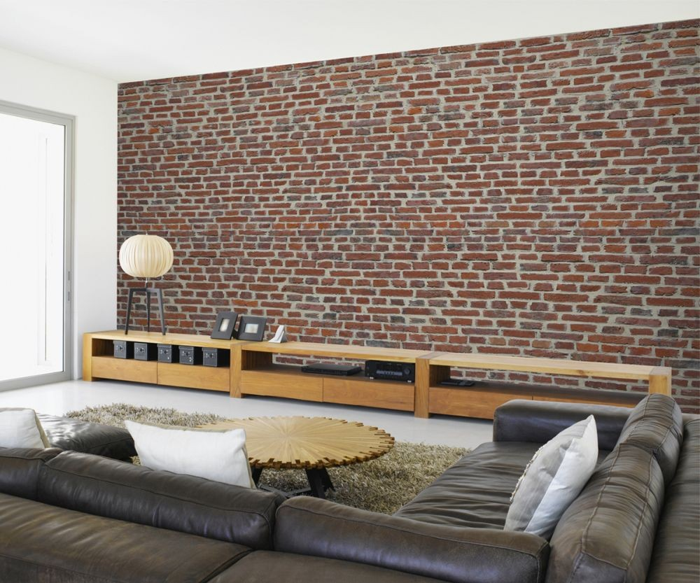 Red brick wall wall mural buy at europosters for Brick wall mural