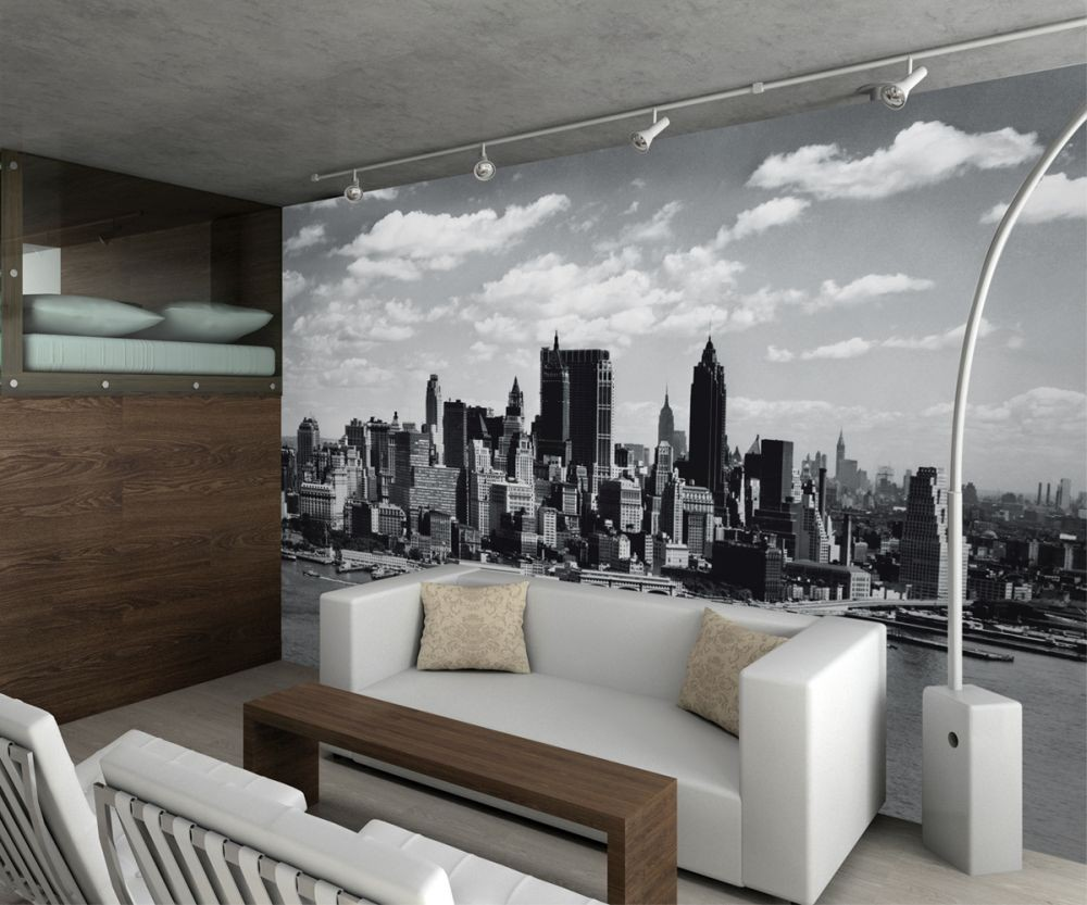 new york wall mural buy at europosters. Black Bedroom Furniture Sets. Home Design Ideas