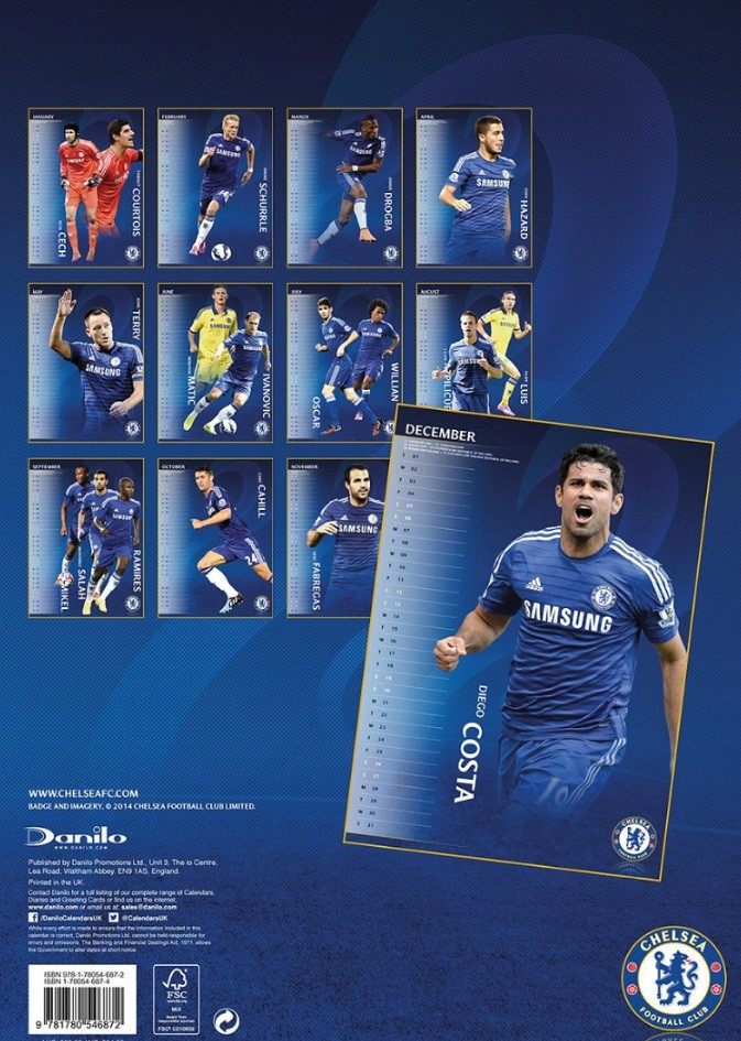 Chelsea Fc Calendars 2018 On Europosters