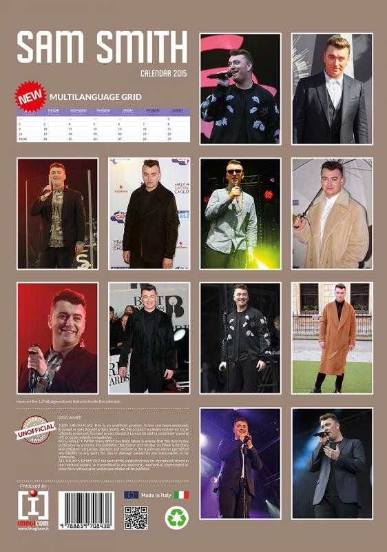 Sam Smith - Calendars 2018 on EuroPosters