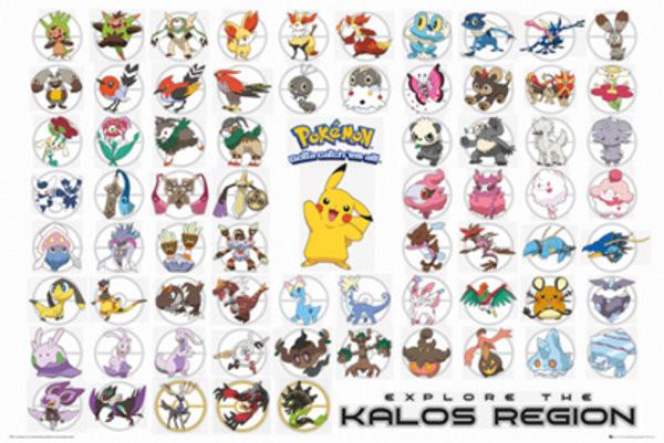 Pokemon kalos region poster sold at europosters - Poster pokemon a imprimer ...
