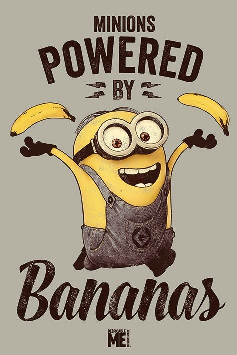 Despicable Me - Powered by Bananas Poster   Sold at Europosters