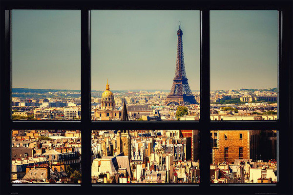 paris window poster sold at. Black Bedroom Furniture Sets. Home Design Ideas