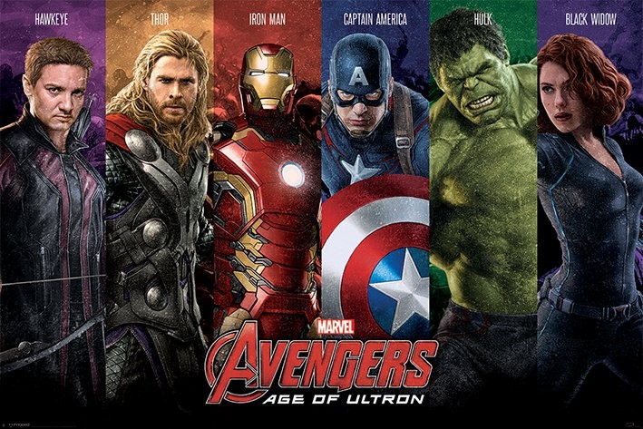 the avengers age of ultron team poster sold at europosters. Black Bedroom Furniture Sets. Home Design Ideas