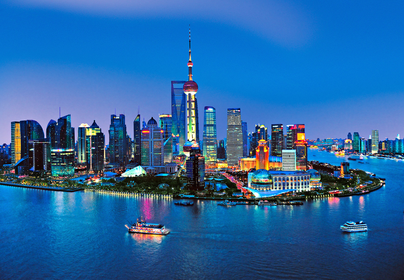 New York City Wall Mural Shanghai Skyline Wall Mural Buy At Europosters