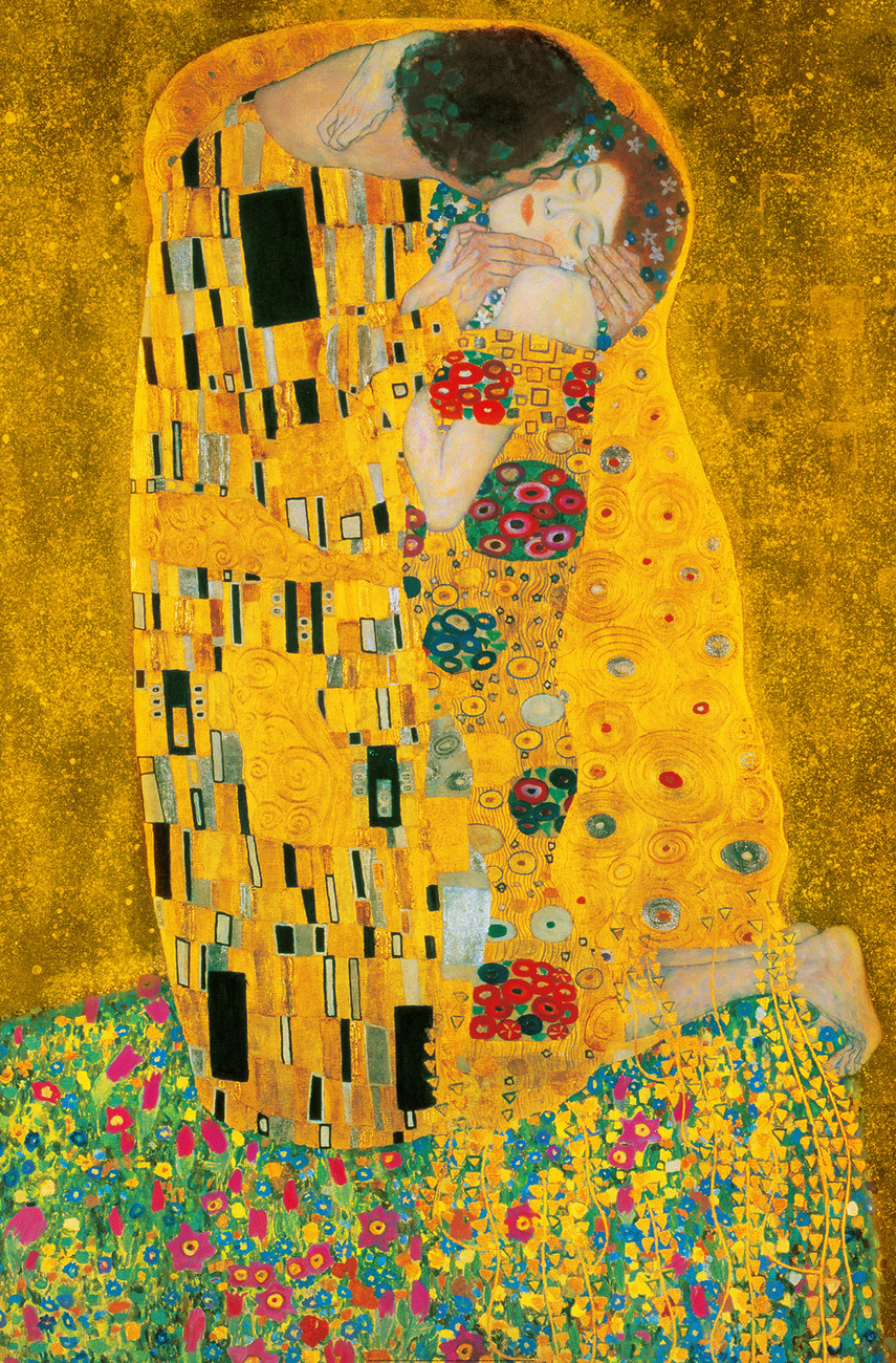 Gustav klimt the kiss 1907 1908 wall mural buy at for Art of mural painting