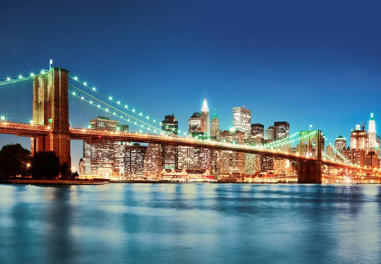 new york east river poster mural papier peint acheter le sur. Black Bedroom Furniture Sets. Home Design Ideas