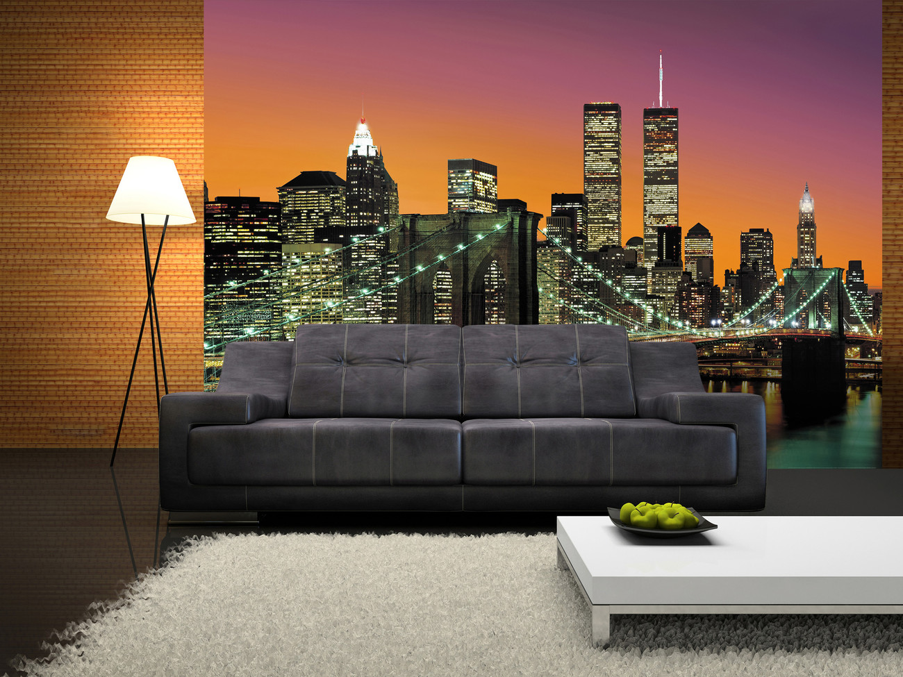 new york city wall mural buy at europosters. Black Bedroom Furniture Sets. Home Design Ideas